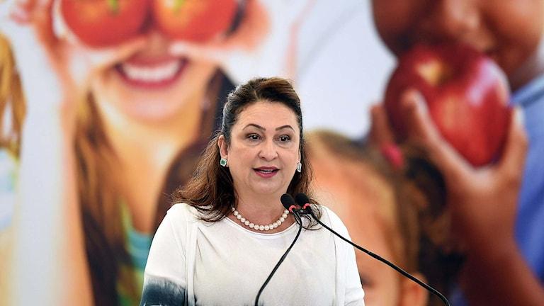 Brasiliens jordbruksminister Katia Abreau.