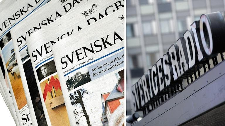 Tidningar, Svenska Dagbladet, och Sveriges Radio