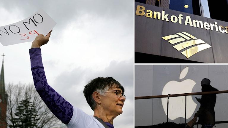 Bank of America och Apple är två av de företag som anslutit sig till protesterna.