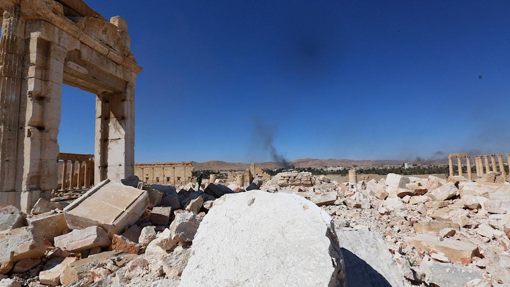 Tempel i Palmyra.