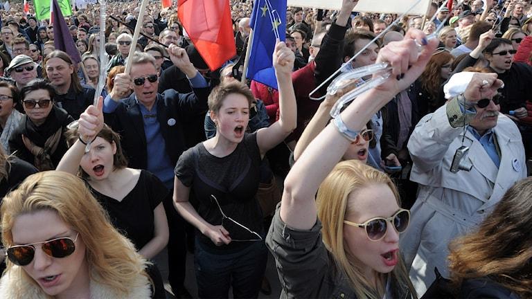Protester i Warsawa