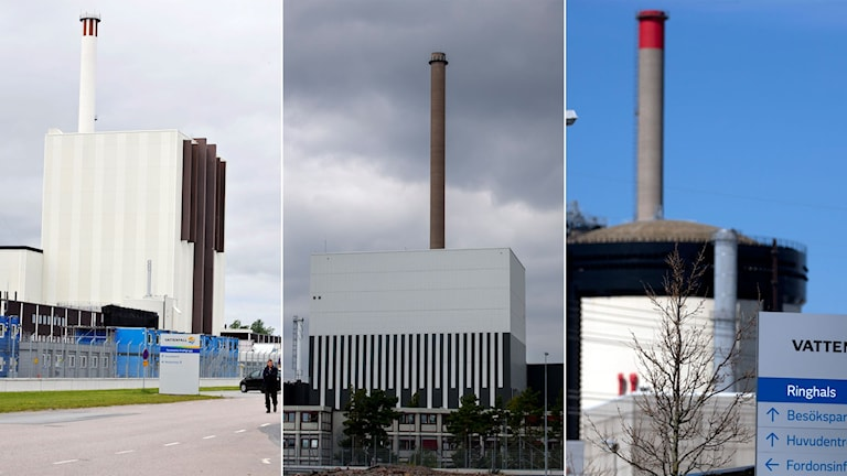 Tre kärnkraftverk.