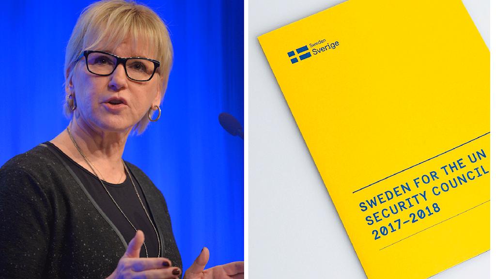 Utrikesminister Margot Wallström har kampanjat hårt för en plats i Säkerhetsrådet. Foto: Henrik Montgomery/Marcus Eriksson/TT.