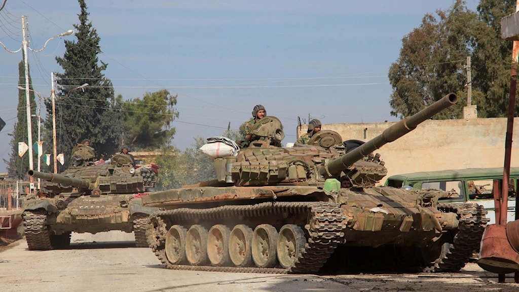 Syriska stridsvagnar.