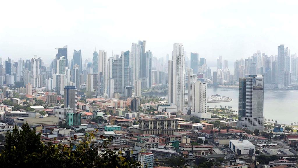 Vy över Panama city.