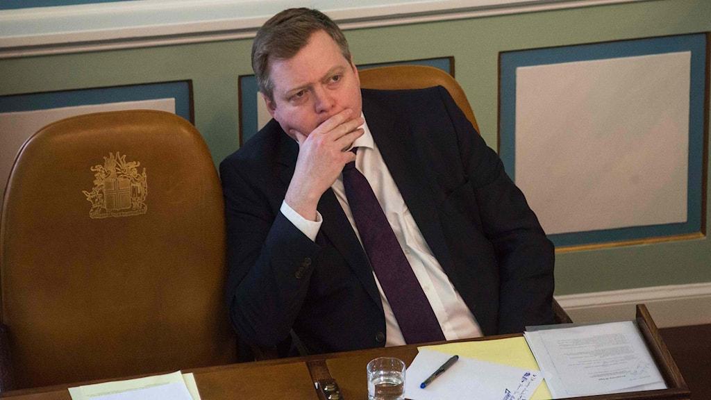 Islands tidigare statsminister Sigmundur Davíð Gunnlaugsson.
