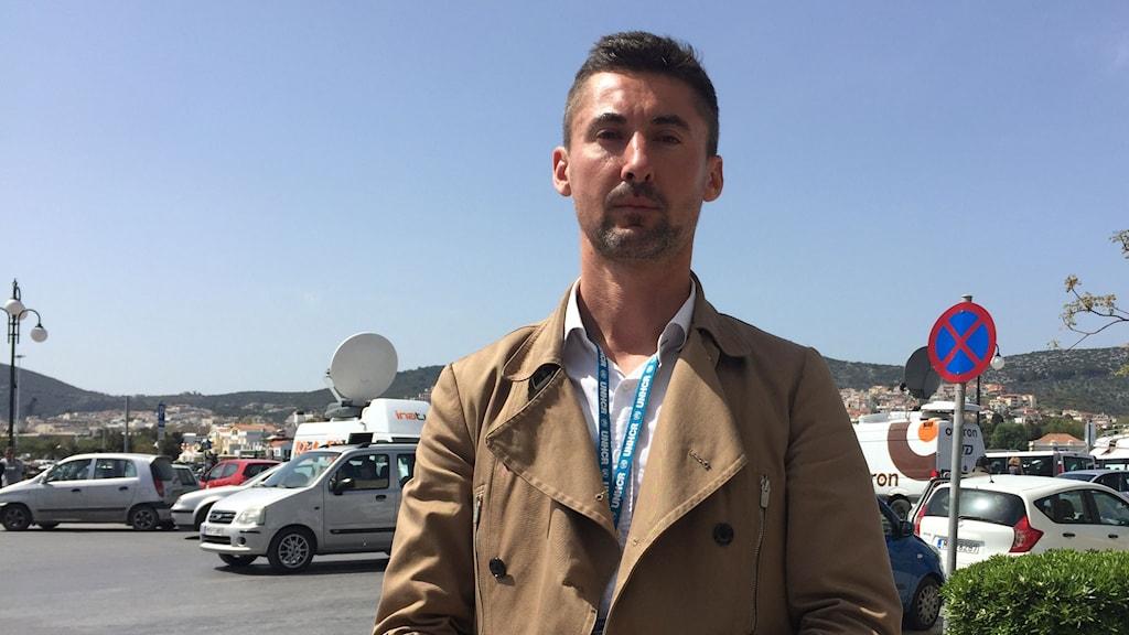 Boris Cheshnikov är UNHCR:s representant på ön Lesbos