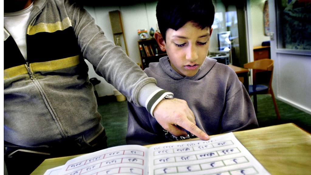 Hemspråkslärare undervisar i arabiska.
