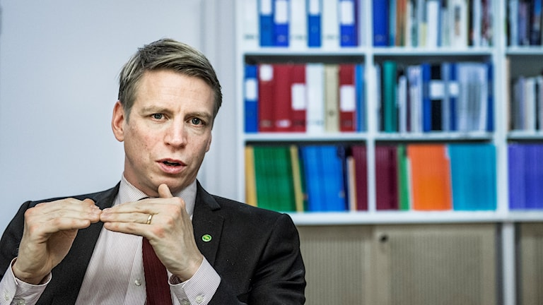 Finansmarknadsminister Per Bolund