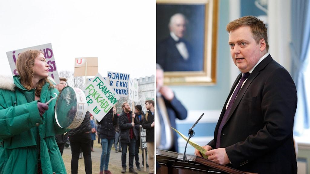 Islands avgående statsminister Sigmundur Davíð Gunnlaugsson.