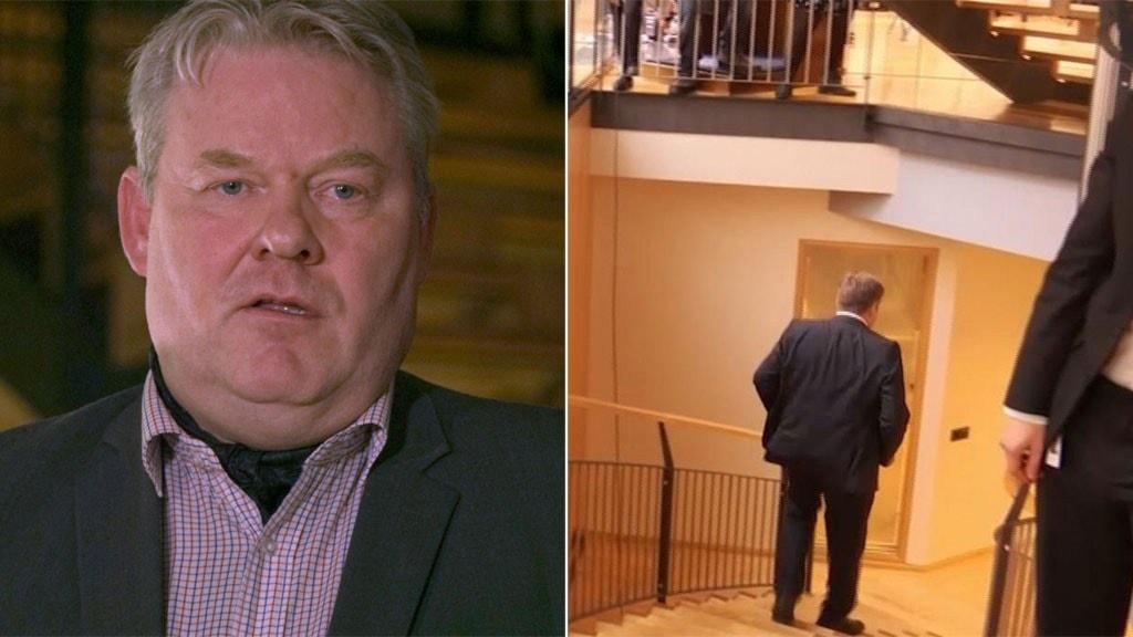 Islands nye statsminister montage Sigurður Ingi Jóhannsson till vänster, till höger den avgående statsministern Sigmundur Davíð Gunnlaugsson