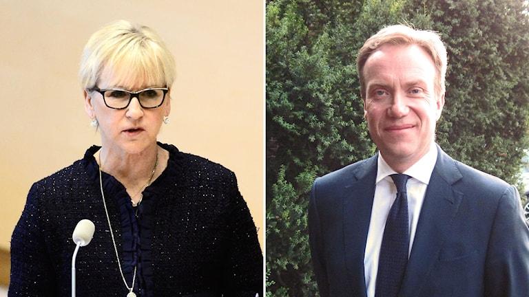 Sveriges utrikesminister Margot Wallström och Norges utrikesminister Børge Brende.