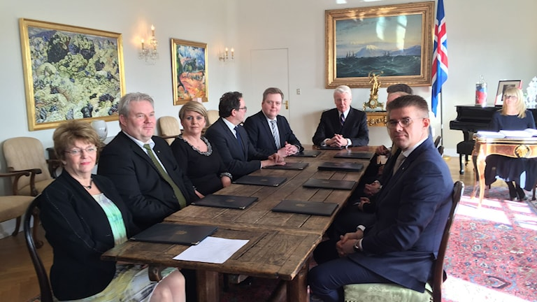 Sista regeringssammanträdet med Sigmundur Davíð Gunnlaugsson som Islands statsminister.