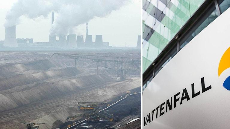 Vattenfalls kraftverk i Boxberg och brunkolsbrottet Nochten.