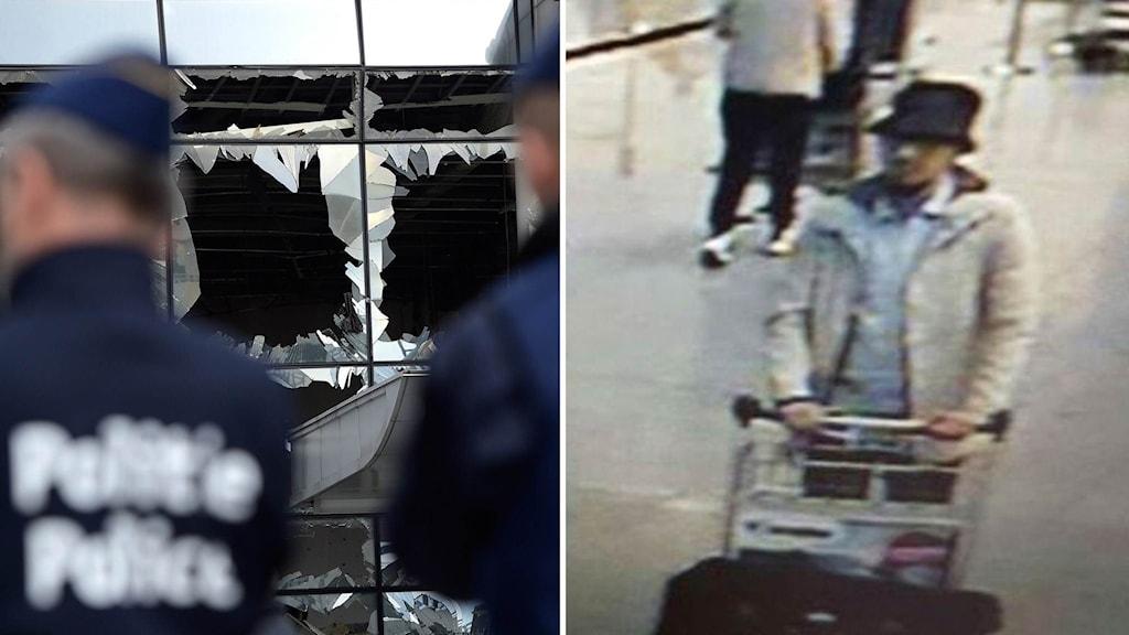 Den gripne 31-åringen erkänner nu att han är mannen med hatten på flygplatsen.