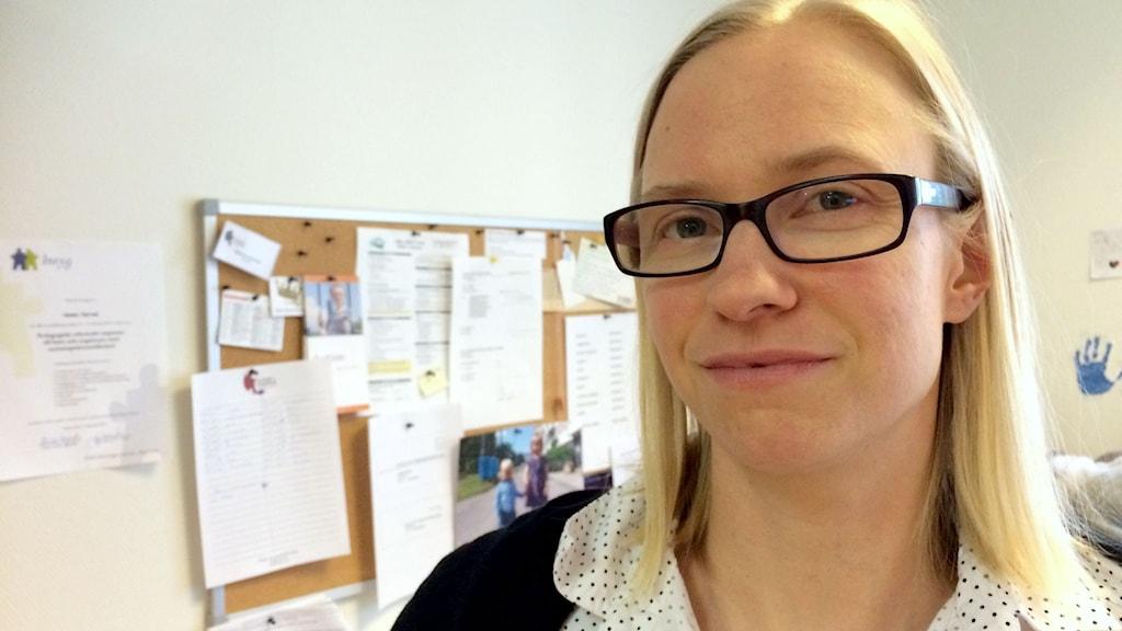Hanna Jarvad. Foto: Katarina Helmerson/Sveriges Radio.