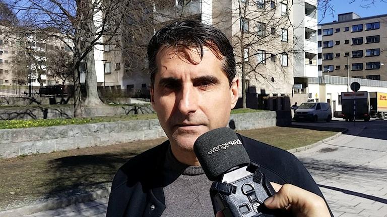 Garlen Mansourian, ordförande för Armeniska Riksförbundet. Foto: Babak Parham/Sveriges Radio.