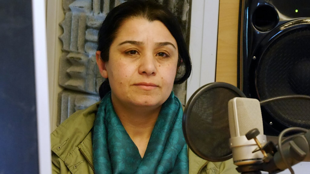 Nasrin Abdullah, commander-in-chief of the YPJ, the Kurdish Women's Protection Units in northern Syria. Photo: Nasser Sina / Radio Sweden.
