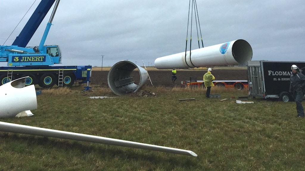 Nedmontering av vindkraftverk
