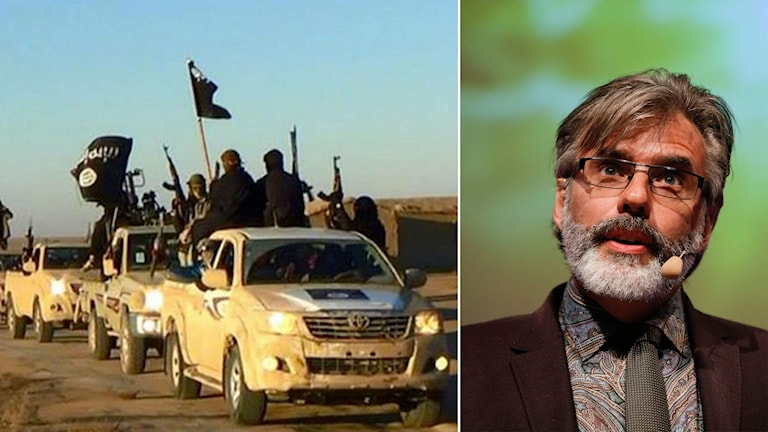 Delad bild: IS-krigare och skäggig man