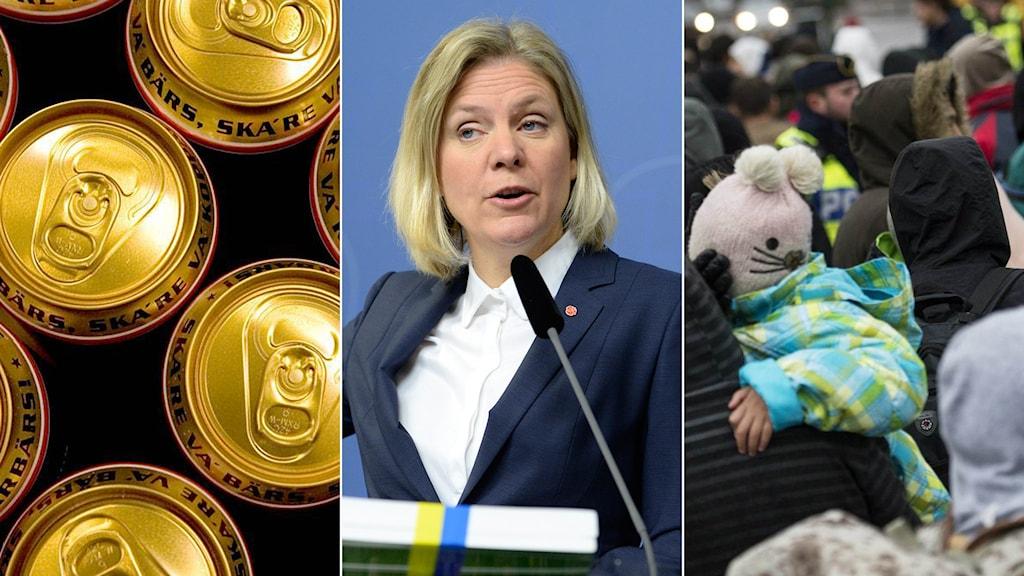 Magdalena Andersson presenterade i dag vårbudgeten. Foto: TT
