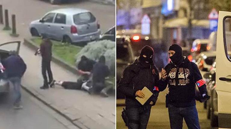 Bilder från gripandet av terrormisstänkta.