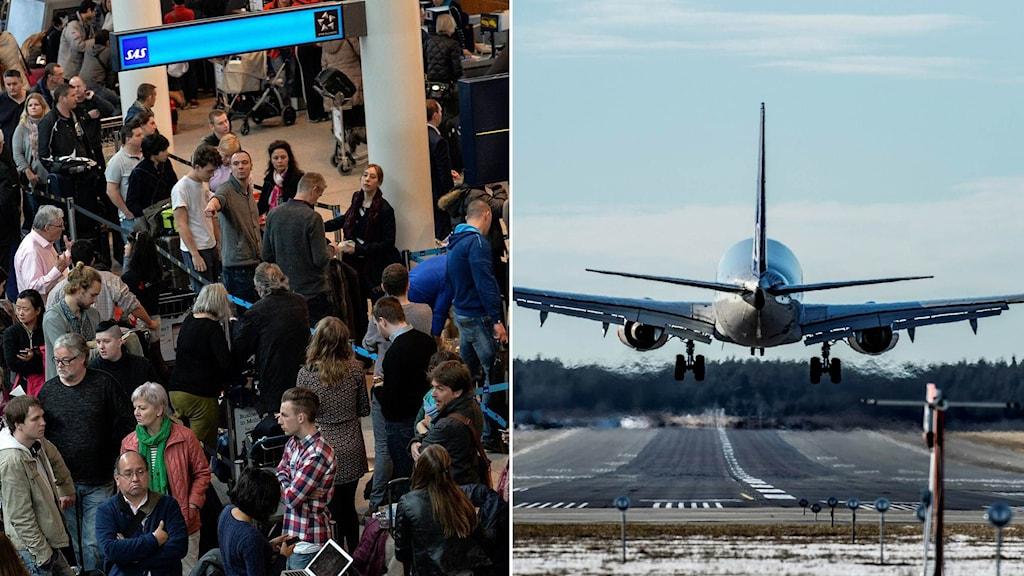 Resenärer flygplan