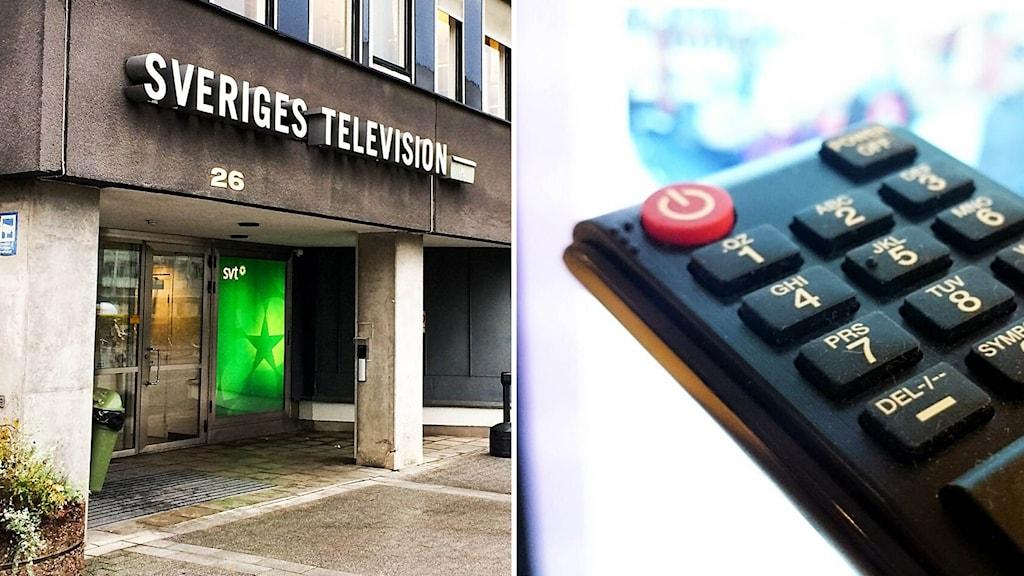 Sveriges television och en fjärrkontroll