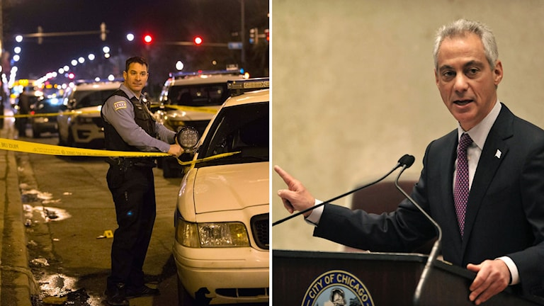 Polisavspärrning och Chicagos borgmästare Rahm Ehmanuel