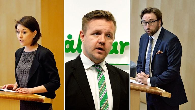 Maria Ferm, Fredrick Federley och Fredrik Malm
