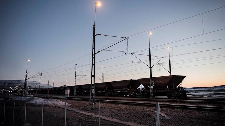 Malmtåget i Kiruna.