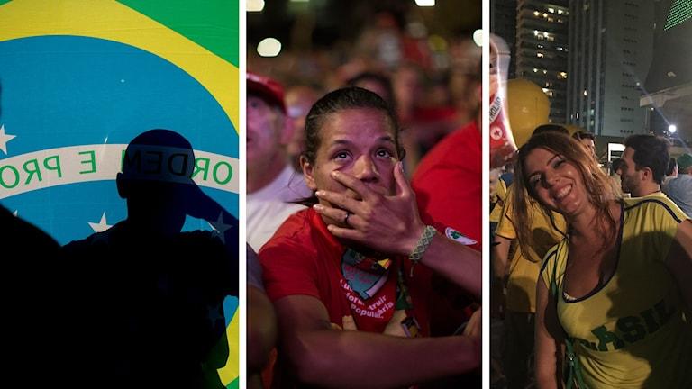 Blandade reaktioner i Brasilien. Carol Tavarico (t.v) tror inte att Dilma är skyldig till korruption men säger att hon kört Brasilien i botten rent ekonomiskt.