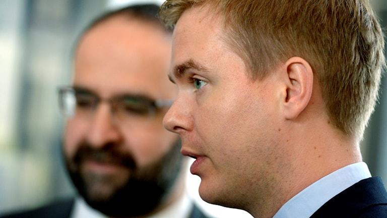 Mehmet Kaplan och Gustav Fridolin.