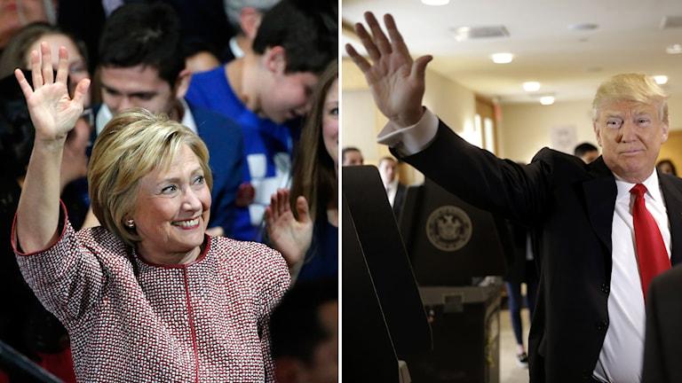Clinton och Trump.