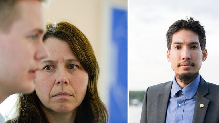 Miljöpartiets språkrör Åsa Romson och Gustav Fridolin. Yasri Khan.