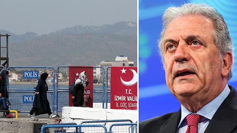EU-kommissionären Dimitris Avramopoulos.