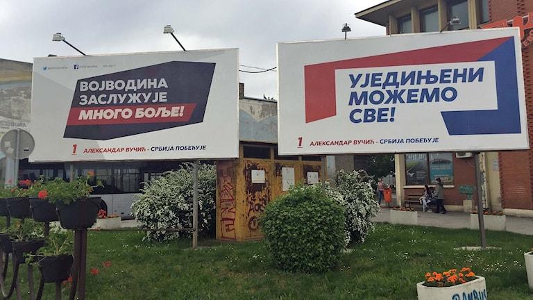 Valplakat i Serbien.