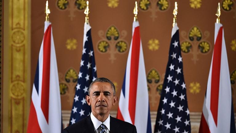 Obama höll tal i London och rådde britterna att inte lämna EU.