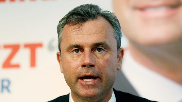 Norbert Hofer, presidentkandidat i Österrike.