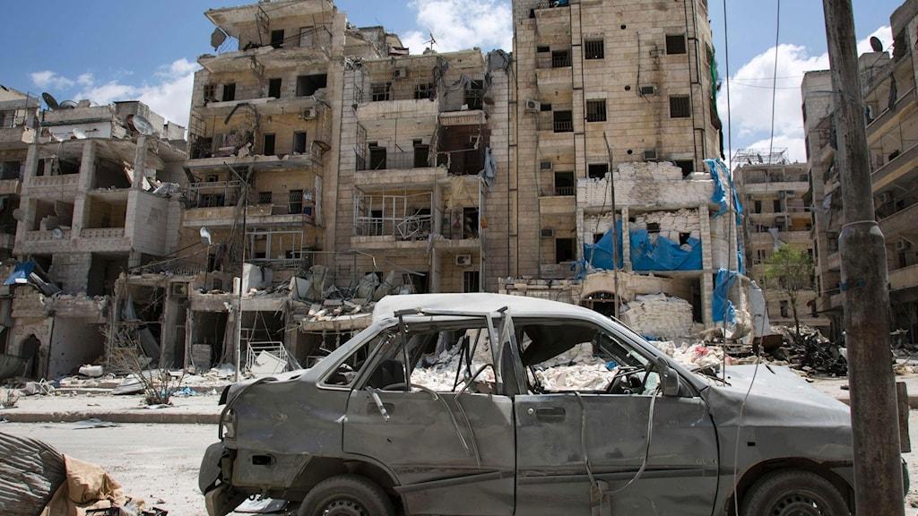Det sönderbombade Al-Quds-sjukhuset i norra Aleppor