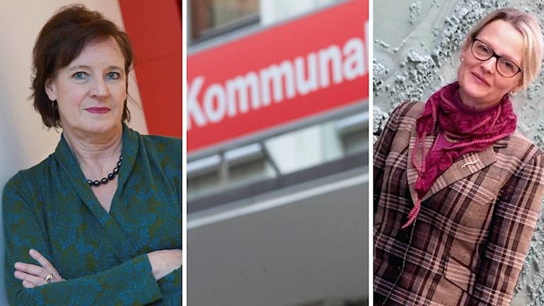 Kommunals ordförande Annelie Nordström och ordföranden i SKL:s förhandlingsdelegation Heléne Fritzon.