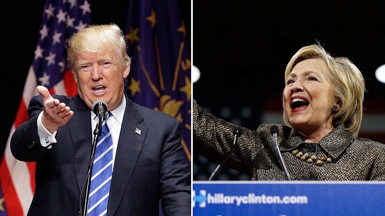 Trump och Clinton