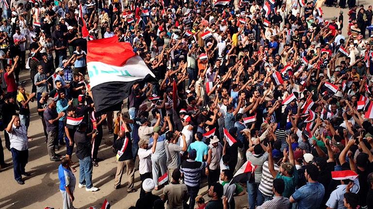 Protesterna i Bagdad har pågått flera veckor.