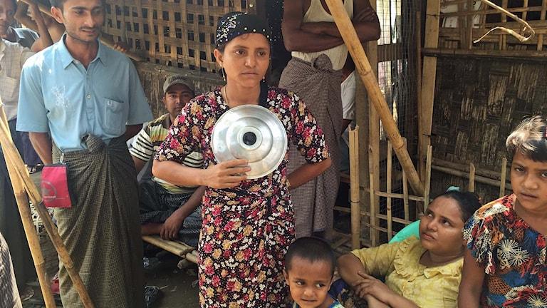 Läger för statslösa rohingyas.