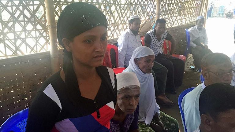 Läger för rohingyas.