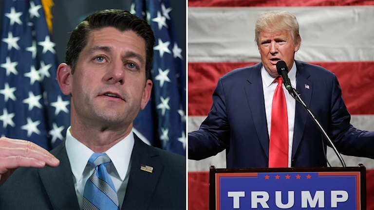 Paul Ryan och Donald Trump.