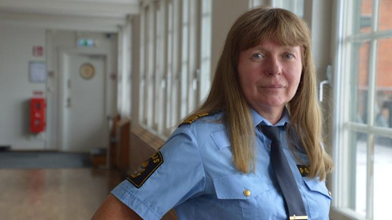 Lena Tysk, chef för utvecklingscentrum Mitt och nationellt ansvarig för trafikpolisen