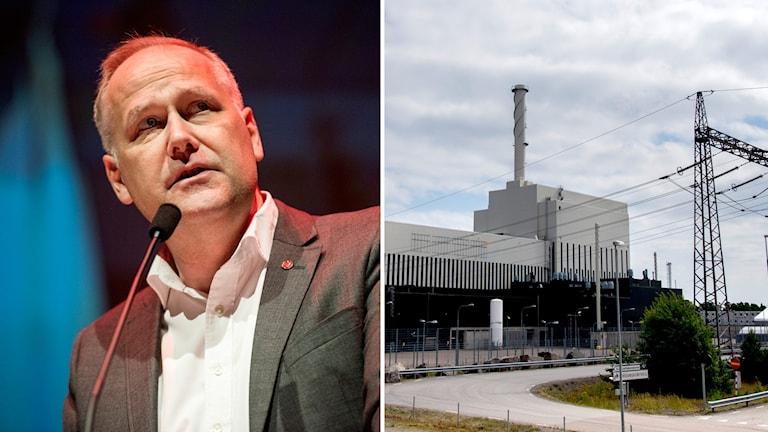 Sjöstedt och kärnkraftsverk.