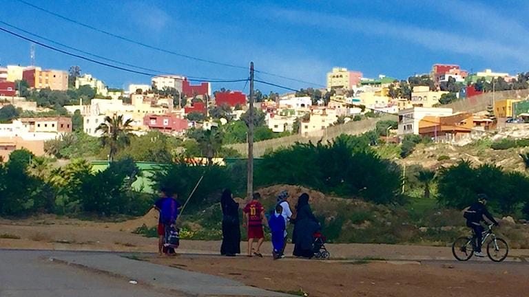 Migranter och flyktingar i Melilla. Foto: Beatrice Janzon.