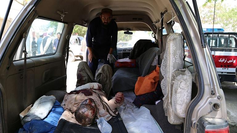 Skadade till sjukhus i Ghazi i östra Afghanistan.